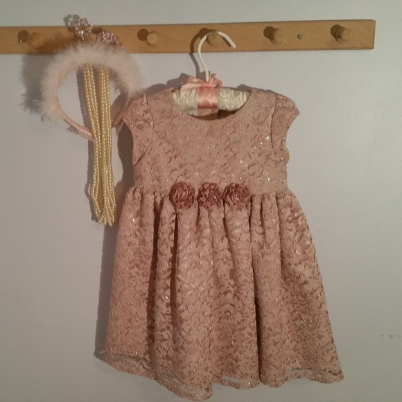 Mia & Mimi Other - Mia & Mimi Size 2T Rose Colored Lace Formal Dress